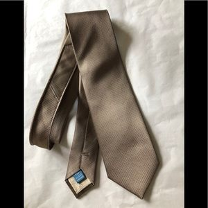 Haines & Bonner London designer silk tan tie